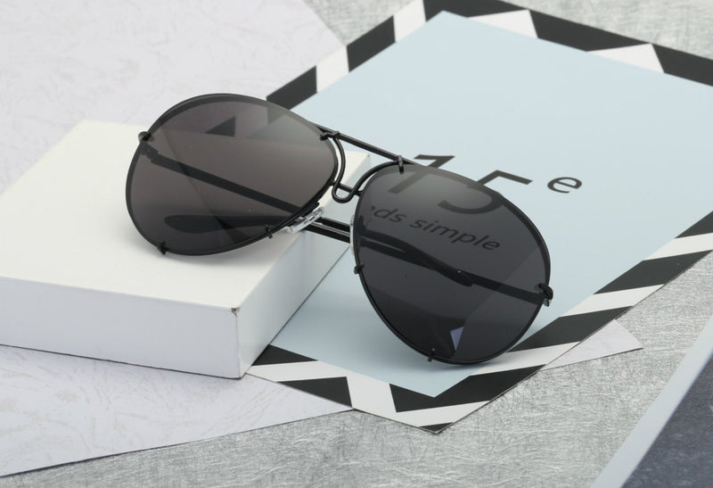 Shop Elegance Kim Big Brand Design Aviator Sunglasses 2018