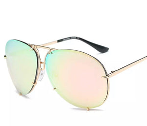 RoseGold Aviator Sunglasses