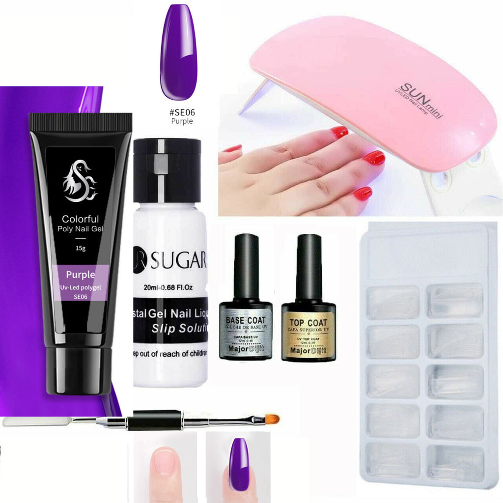 Purple polygel-shopelegance
