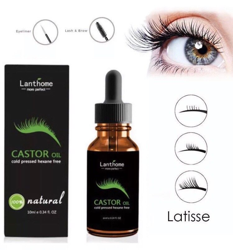 New Organic 100% Castor Oil for Eyelashes Eyebrows Hair Growth Serum Blush