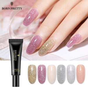 Glittery Polygel Extension Nail Gel UV Building Gel POLYGEL Nail Extension 20ML