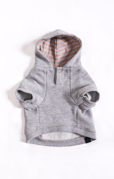 Striped Pink Fleece Hoodie