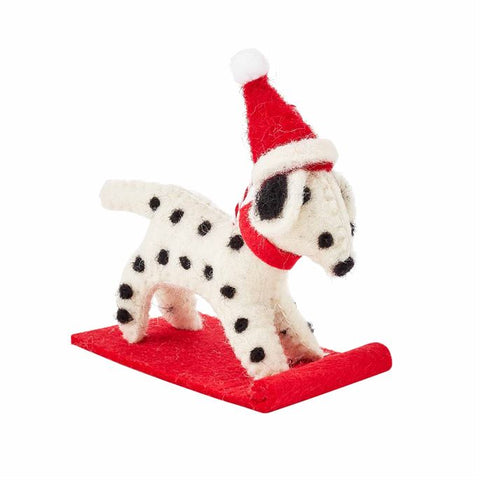 Dalmatian Wool Dog Ornament