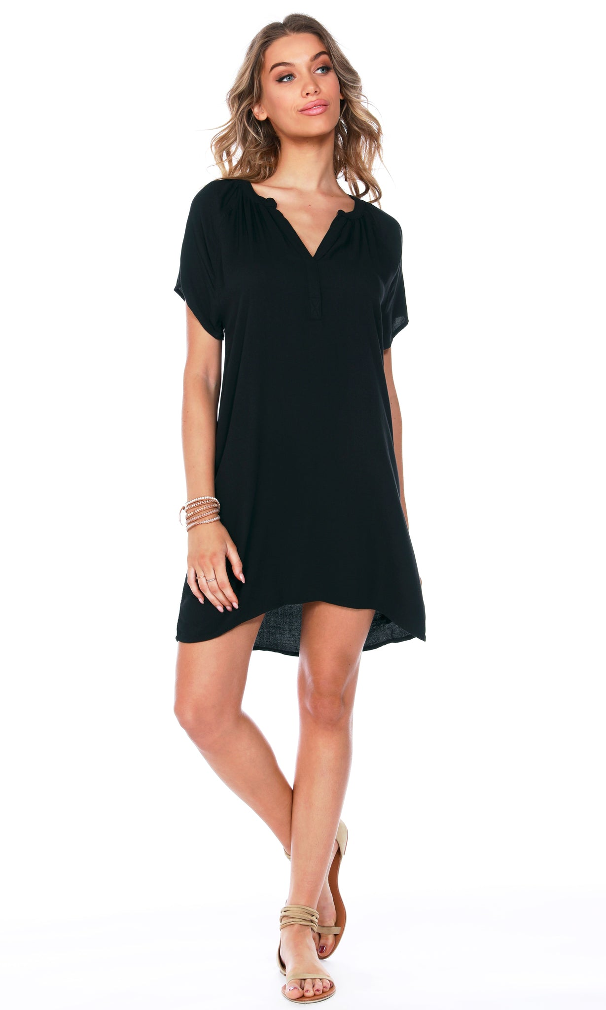 Split Neck Dress