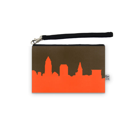 Cleveland Skyline Browns Game Day Wristlet - STADIUM APPROVED
