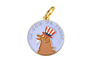 'In Dog We Trust' Collar Tag