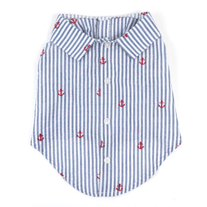 Anchor Button Up Dog Shirt