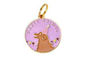 'Party Animal' Collar Tag