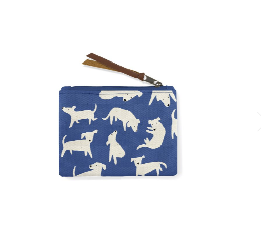 Nosey Dog Canvas Coin Pouch