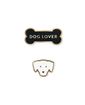 Dog Lover Enamel Pin Set