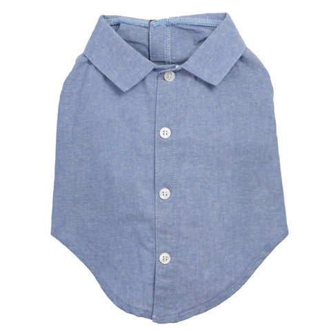 Chambray Dog Button Up Shirt