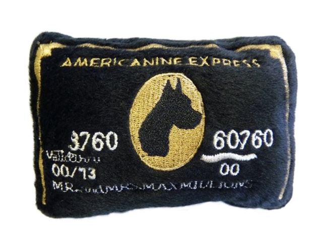 Americanine Express Bark Card Dog Toy