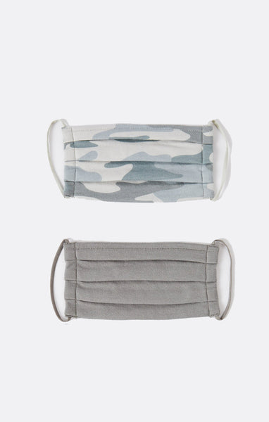 Camo Pleated Face Mask - Combo Pack