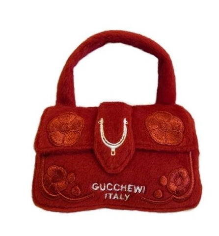Gucchewi Red Purse Dog Toy
