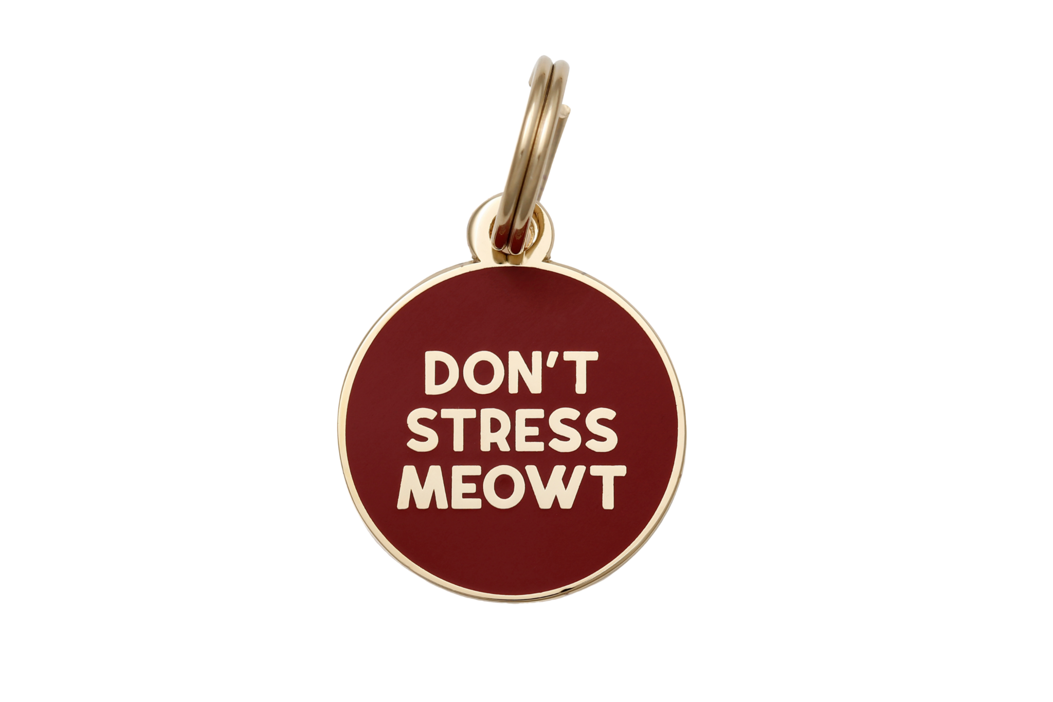 Cat Collar Tag Charm - Don't Stress Meowt