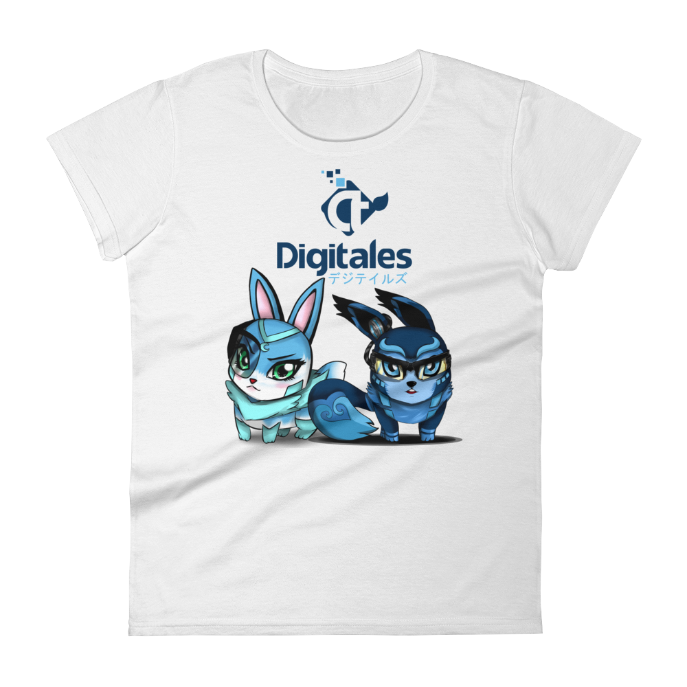 Women's DIGI and TALES White short sleeve t-shirt