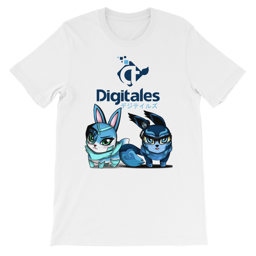 Digi and Tales White Short-Sleeve Unisex T-Shirt