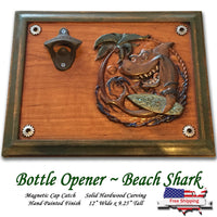 Beach Shark Beer Opener