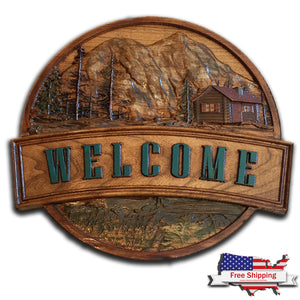"Cabin ""Welcome"" Sign"
