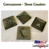 Carcassonne - Stone Drink Coasters