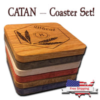 Catan - Wood Drink Coasters