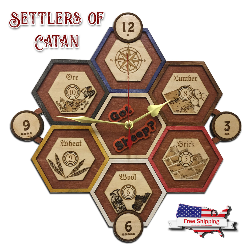 Settler of Catan Clock - Got Sheep?