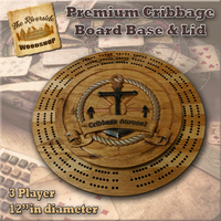 "Premium ""Nautical Anchor"" Cribbage Board"