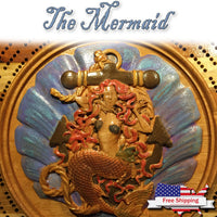 """The Mermaid"" Cribbage Board"