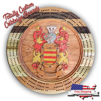 Totally Custom Round Cribbage Board...