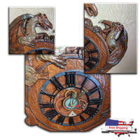 Dragon and Gears ~ Wall Clock