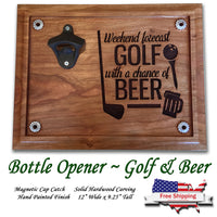Golf Forecast Beer Opener