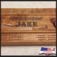 Oversized Cribbage Board w/ Custom Lid