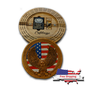 "Premium ""Patriotic Eagle"" Cribbage Board"