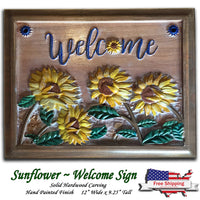 "Sunflower ""Welcome"" Sign"