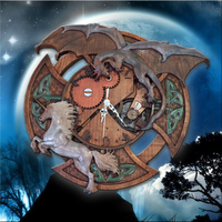 Dragon and Unicorn ~ Wall Clock
