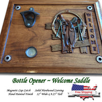 """Personalized"" Saddle Theme ~ Beer Opener"