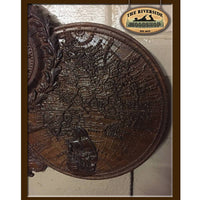 Mermaid & Antique Map Wall Clock - The Riverside Woodshop