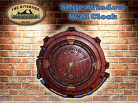 Ships Porthole Wall Clock - The Riverside Woodshop