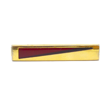 Red & Gold tone Tie Clip, 1970's