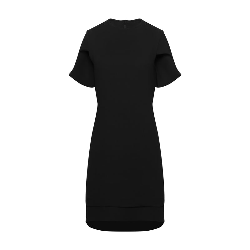 Black Cap Sleeve Mini Dress by BRANDON MAXWELL