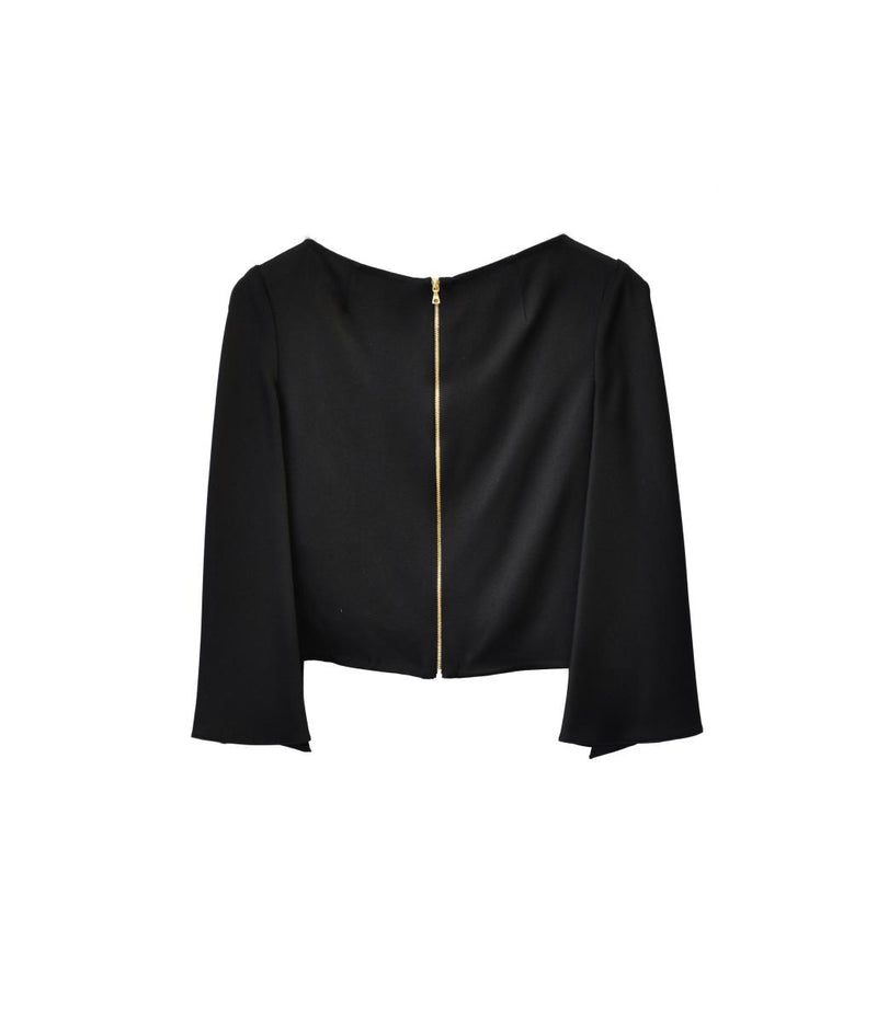 Boatneck Top with Split Sleeve