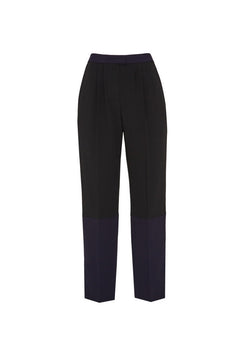 Contrast Color Blocked Trouser