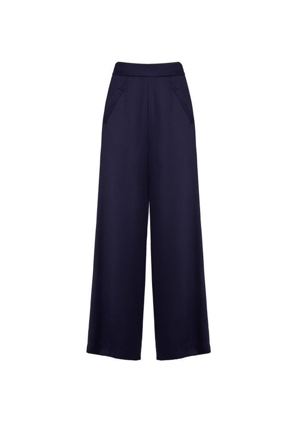 High Waisted Wide Leg Trouser