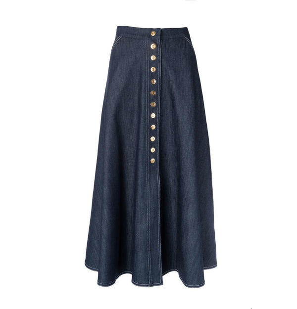 Seventies Denim Woods Skirt