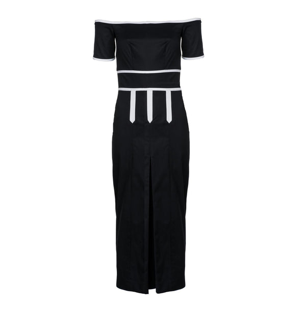 Contrast Culotte Dress