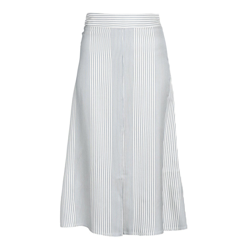 Blue Stripe Front Slit Skirt