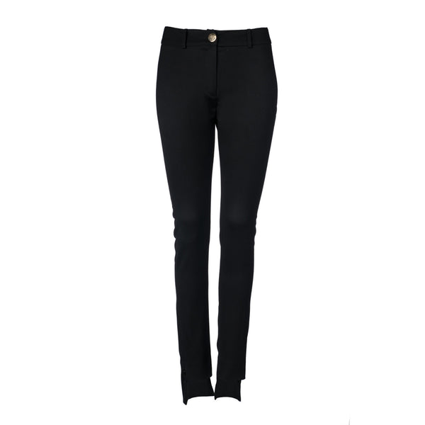 Black Split Hem Pant by STEPHANIE RAD