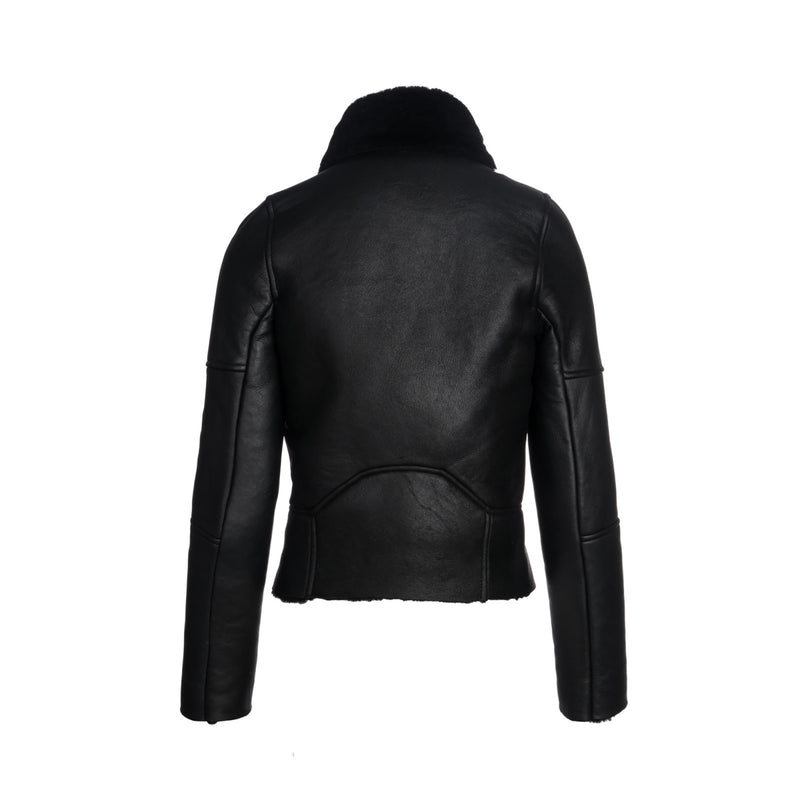 Aaron Shearling Leather Biker Jacket by FRATER PARIS