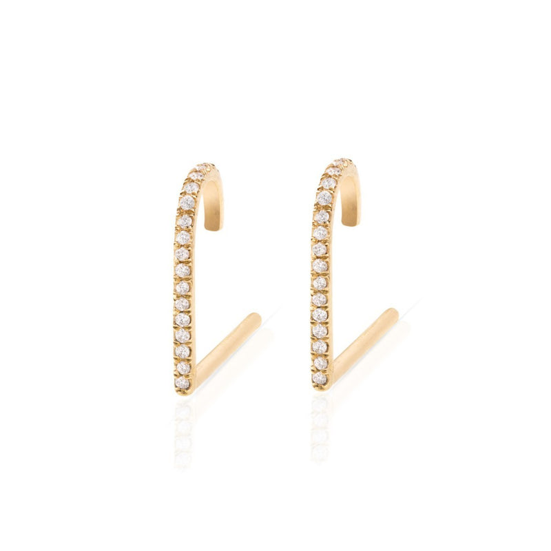 Suspender Diamond Hook Earring