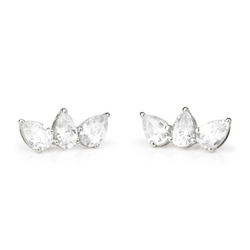 Olympia Studs - White Gold
